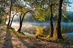 "Nationaal park ""Sviati Hory"" (Heilige Bergen), Donetsk Oblast, Oekraïne"