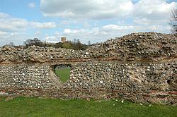 Overblijfselen van de stadsmuren