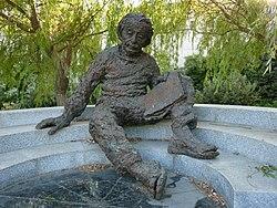 Standbeeld van Albert Einstein in de Israëlische Academie van Wetenschappen en Geesteswetenschappen.