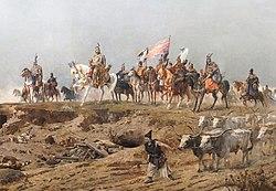 Die Ankunft der Magyaren (Ungarn) im Karpatenbecken.