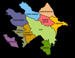 Aserbaidschan ist in 10 Wirtschaftsregionen unterteilt.