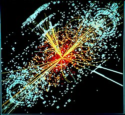 Počítačem vytvořený obraz Higgsovy interakce