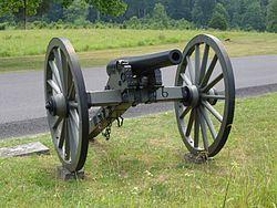 Foto van een 3-inch Ordnance Gun in het Gettysburg National Military Park.