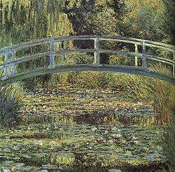 Ninfee , dipinte da Monet nel suo giardino di Giverny nel 1899