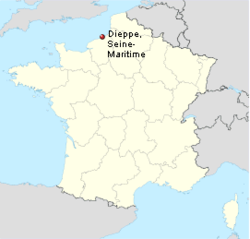 Plaats van de overval : Dieppe, departement Seine-Maritime, Haute-Normandie