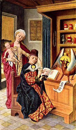 Ein Bild des Heiligen Lukas von Hermen Rode