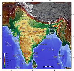 Cartina Muta Del Subcontinente Indiano.Subcontinente Indiano
