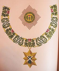 Знак отличия рыцаря самого древнего и самого благородного ордена чертополоха.