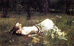 """Ofelija"", Waterhouse, 1889 m."