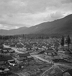 Ein Internierungslager für Japaner in Kanada, 1945