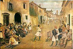 """""""Joc de pilota"""", 1881, llargues."""