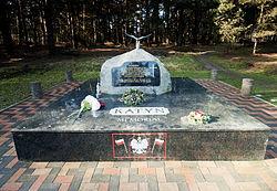 Het Katyn Memorial bij Cannock Chase