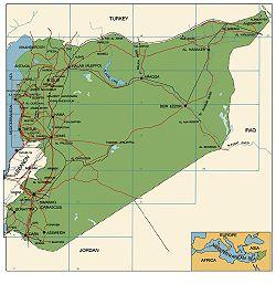 Mapa Syrii