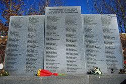 Memoriale al cimitero di Lockerbie
