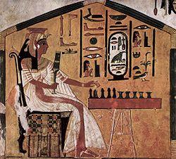 Scène uit de graftombe van Nefertari