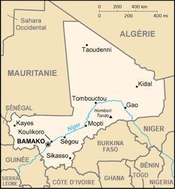 Kaart van Mali