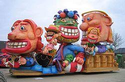 Een carnavalswagen uit Nederland