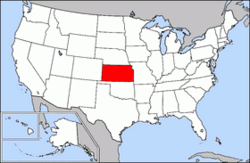 Mapa USA a Kansasu