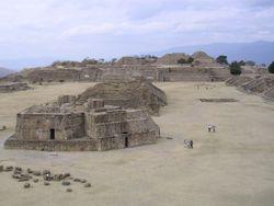 Monte Albán, ein zapotekischer Standort in Oaxaca, Mexiko