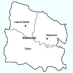 Gemeenten in de provincie Valverde