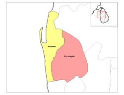 (1) Kurunegala e (2) Puttalam são os dois distritos que compõem a Província do Noroeste.