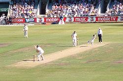 O plano básico: lançador (África do Sul) vs batedor (Austrália)