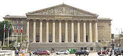 Het Palais Bourbon, voorkant