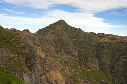 De Pico Ruivo, de hoogste piek van Madeira.