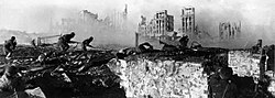 Sovjetsoldaten in Stalingrad