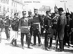Officiers de l'armée roumaine pendant la Première Guerre mondiale.