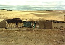 Zdobione domy, Góry Drakensberg