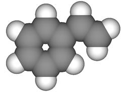 Styreen molecuul