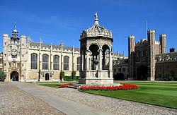 Het Grote Hof in Trinity College, Cambridge