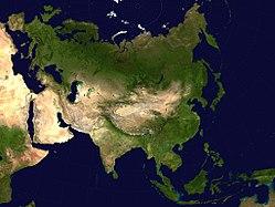 Geografisches Gebiet Asien