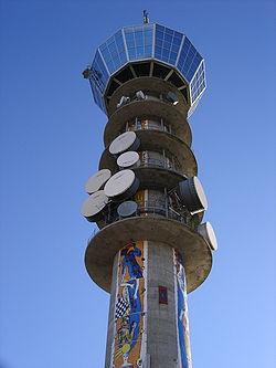Een radiotoren.
