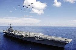 Der Flugzeugträger USS Abraham Lincoln.