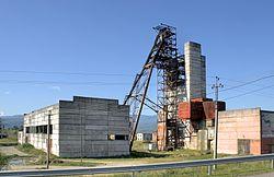 Een zoutmijn in de stad Solotvyno.