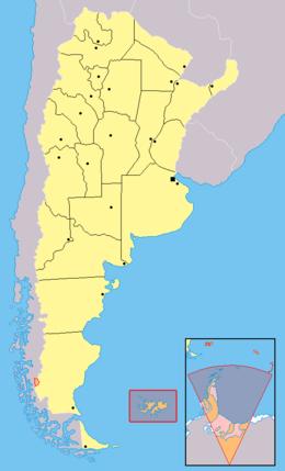 Kaart van Argentinië