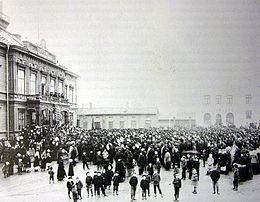 Een demonstratie in 1905 - in Jakobstad