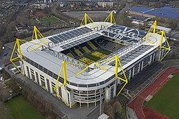 Signal Iduna Park is het grootste voetbalstadion van Duitsland.