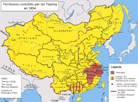 De Taiping Rebellie op zijn machtigst