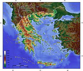 Die Topographie Griechenlands