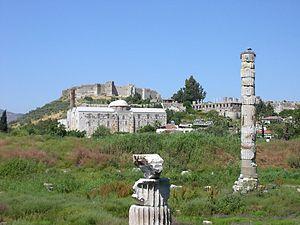 De plaats van de tempel van Artemis in Efeze in Turkije.
