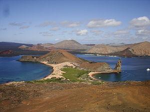 Widok z Wyspy Bartolomé, Wyspy Galapagos