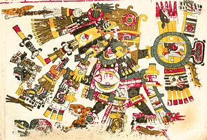 Tezcatlipoca in de Codex Borgia.