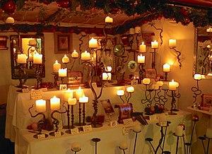 Sveče v trgovini.