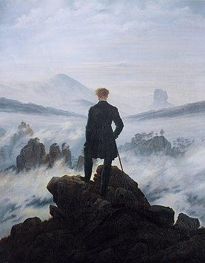 Caspar David Friedrich, Wanderer über dem Nebelmeer, 38.58 × 29.13 inches, 1818, Öl auf Leinwand, Kunsthalle Hamburg