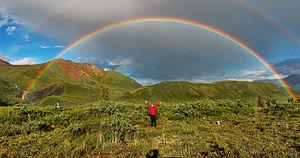 Een dubbele regenboog
