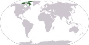 Ligging van de Canadese Arctische Archipel