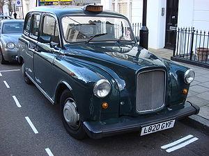 Een taxi in Londen
